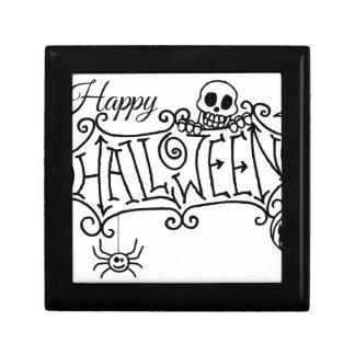 Happy Halloween Cartoon Sign Gift Box