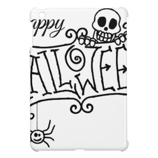 Happy Halloween Cartoon Sign iPad Mini Cases