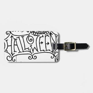 Happy Halloween Cartoon Sign Luggage Tag