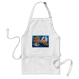 Happy Halloween Cartoon Witch Sign Standard Apron