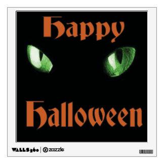 Happy Halloween Cats Eyes Wall Sticker