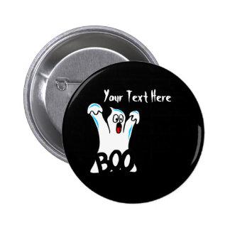 Happy Halloween – Caution, Beware of Ghost! 2 Inch Round Button