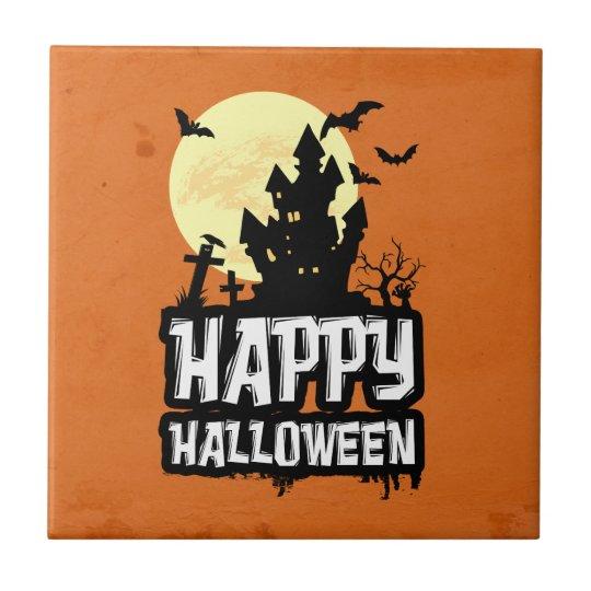 Happy Halloween Ceramic Tile
