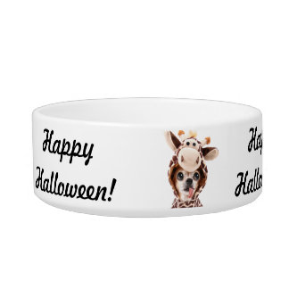 Happy Halloween Chihuahua Pet Bowl Add Photo