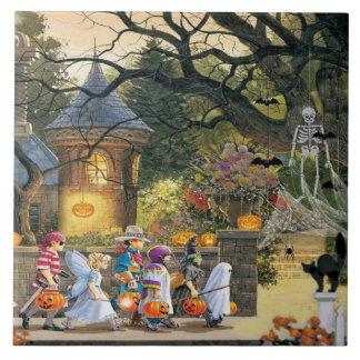 Happy Halloween Children Ceramic Tile