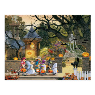 Happy Halloween Children Postcard