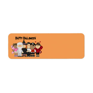Happy Halloween Children Return Address Label