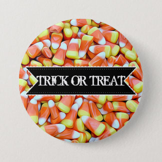 Happy Halloween Colorful Candy Corn Button