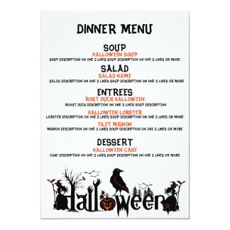 Happy Halloween Concept Design Dinner Menu Card