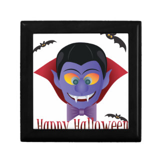 Happy Halloween Count Dracula Illustration Gift Box