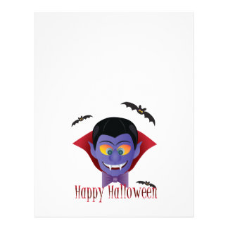 Happy Halloween Count Dracula Illustration Letterhead