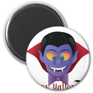 Happy Halloween Count Dracula Illustration Magnet