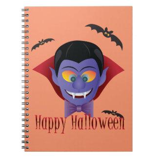 Happy Halloween Count Dracula Illustration Notebook