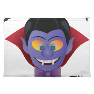 Happy Halloween Count Dracula Illustration Placemat