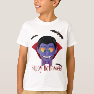 Happy Halloween Count Dracula Illustration T-Shirt
