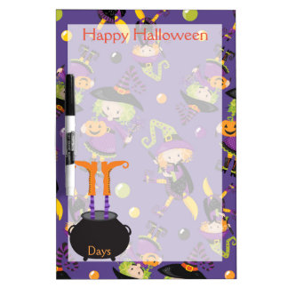 Happy Halloween Countdown Dry Erase Board