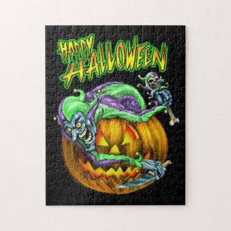 Happy Halloween Creepy JesterKin Puzzle