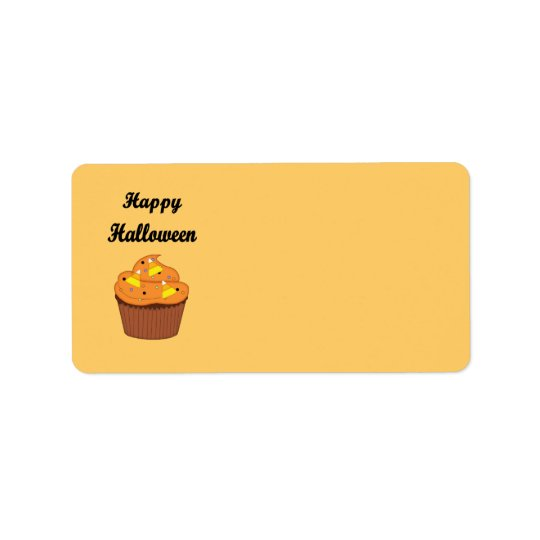 Happy Halloween Cupcake Label