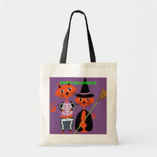 Happy Halloween Cute Cats Tote Bag