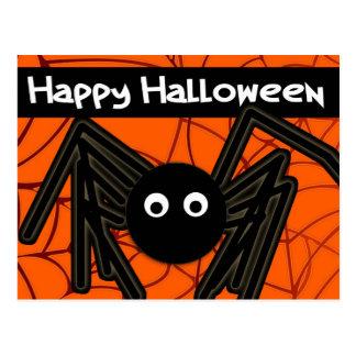 Happy Halloween Cute Spider Customizable Postcard