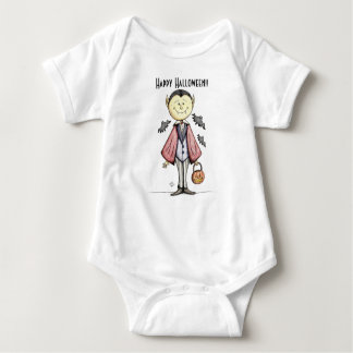 Happy Halloween Cute Vampire Baby Bodysuit