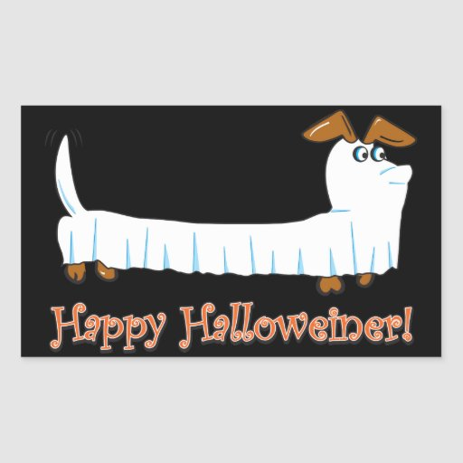 Happy Halloween Dachshund Rectangular Sticker