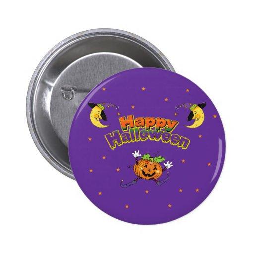 Happy Halloween Dancing Pumpkin Pinback Button
