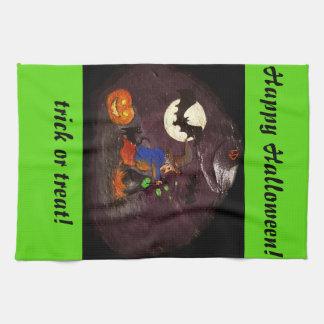 Happy Halloween dishcloth Kitchen Towel