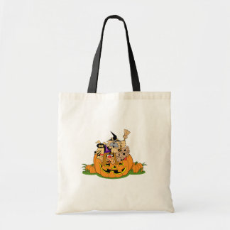 Happy Halloween Dogs In Pumpkin Tote Bag