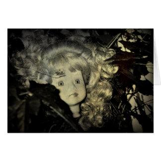 Happy Halloween Doll Head Card