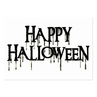 Happy Halloween Drippy Text Image Business Card Template