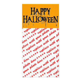 Happy Halloween Drippy Text Image Card