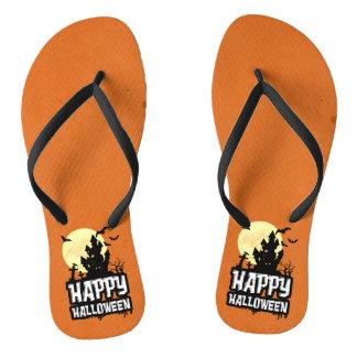 Happy Halloween Flip Flops