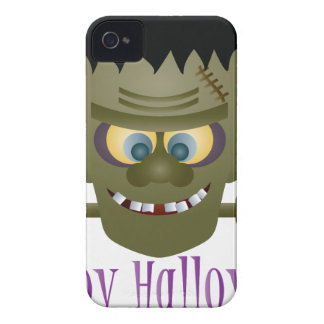 Happy Halloween Frankenstein Monster Illustration Case-Mate iPhone 4 Case