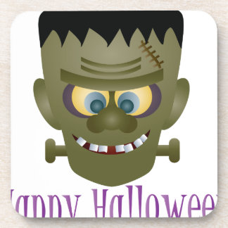 Happy Halloween Frankenstein Monster Illustration Coaster