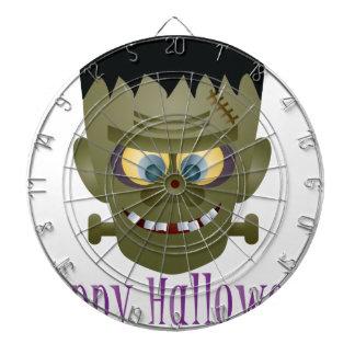 Happy Halloween Frankenstein Monster Illustration Dartboard