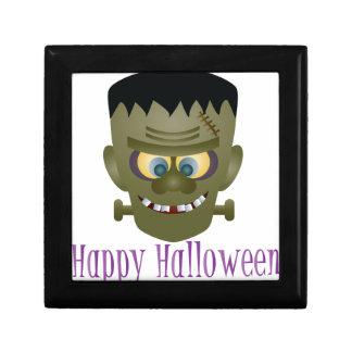 Happy Halloween Frankenstein Monster Illustration Gift Box