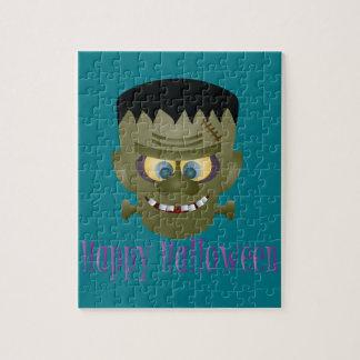 Happy Halloween Frankenstein Monster Illustration Jigsaw Puzzle