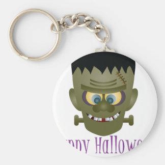 Happy Halloween Frankenstein Monster Illustration Keychain