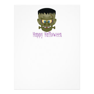 Happy Halloween Frankenstein Monster Illustration Letterhead