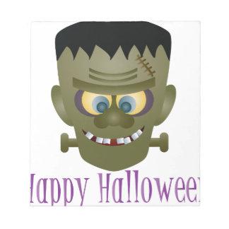 Happy Halloween Frankenstein Monster Illustration Notepad