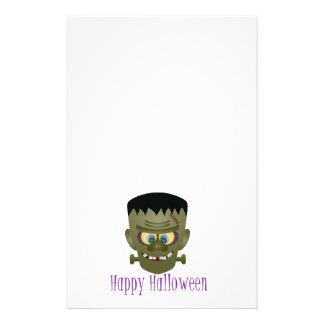 Happy Halloween Frankenstein Monster Illustration Stationery