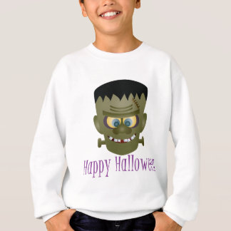 Happy Halloween Frankenstein Monster Illustration Sweatshirt
