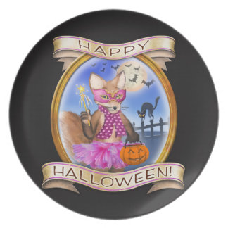 Happy Halloween - Frieda Tails collectible plate
