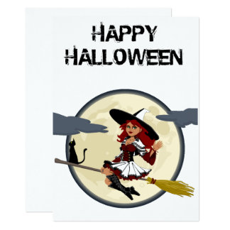 Happy Halloween Friendly Witch Greeting Card