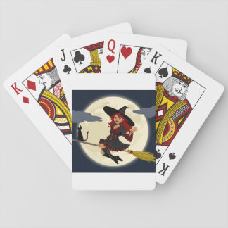 Happy Halloween Friendly Witch Playing Cards