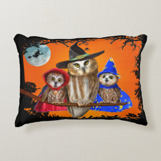 HAPPY HALLOWEEN FROM OWL OF US! DECORATIVE PILLOW