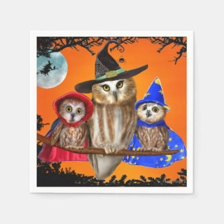 HAPPY HALLOWEEN FROM OWL OF US! PAPER NAPKINS