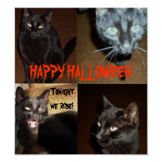 HAPPY HALLOWEEN FROM THE BLACK CATS POSTER