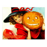 Happy Halloween from The Witch in Red Postcards